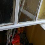 erneuerte Wassernase, Fensterkitt stellenweise erneuert